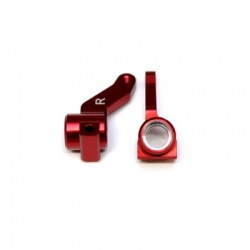STRC CNC Machined Precision Aluminum Steering Knuckles for Kyosho SCR, RB5, RT5 (Limited Edition Red)